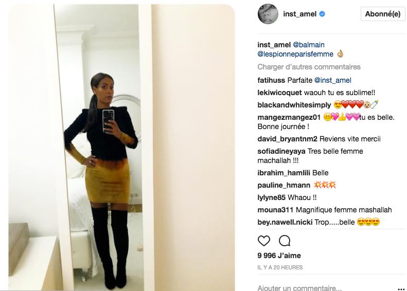 Amel Bent dévoile son baby-bump sur Instagram
