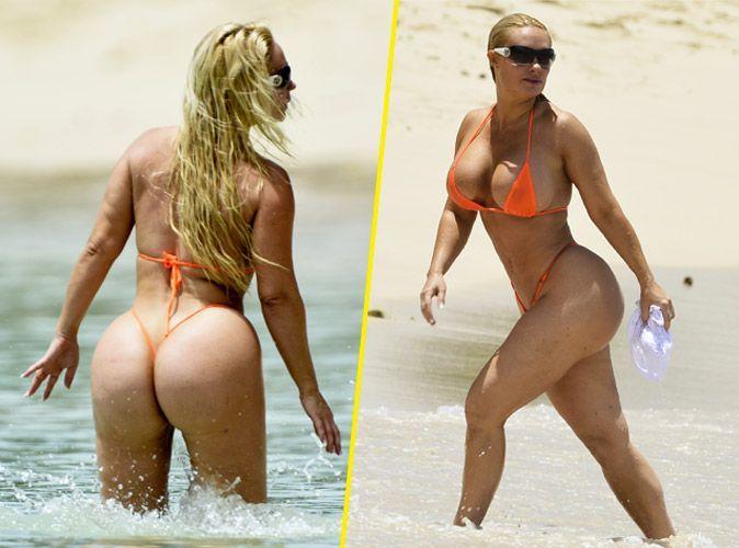 "Photos : Coco Austin : la femme d'Ice-T invente le ""nu-kini"""