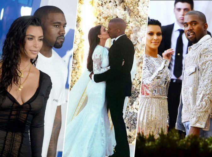 photos mariage de kim kardashian et kanye west le noir a s rieusement domin chez les invit s. Black Bedroom Furniture Sets. Home Design Ideas