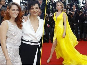 Photos : Cannes 2014 : Kristen Stewart et Juliette Binoche complices, Uma Thurman éclatante !