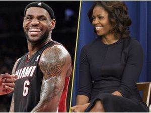 Michelle Obama : face à Lebron James, elle ne rougit pas, bien au contraire !