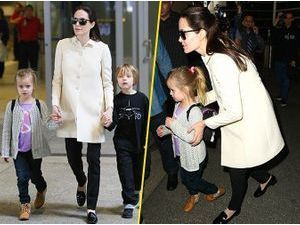 Photos : Angelina Jolie : la femme engagée laisse place à la maman attentionnée !
