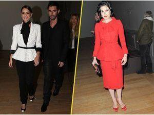Photos : Fashion Week Haute Couture : les Fernandez-Versini et Dita Von Teese : invités de choix pour le front row de Ralph & Russo !