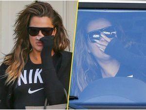 Photos : Khloe Kardashian : corset amincissant et gonflement des lèvres (qu'elle n'assume pas) !
