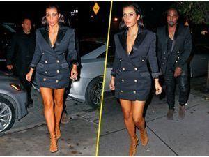 Photos : Kim Kardashian : un sosie glamour de Kanye West !