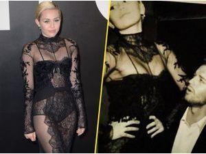 Photos : Miley Cyrus : fatale en dentelle noire, Patrick complètement sous le charme !