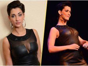 Photos : Sheryfa Luna : elle dégaine la robe en cuir et le décolleté sexy pour un gala de charité !